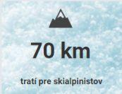 70 km tratí