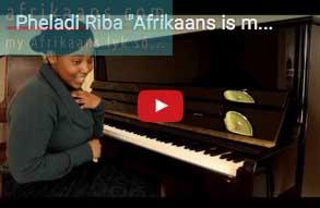 Pheladi Riba 'Afrikaans is my obsessie!'